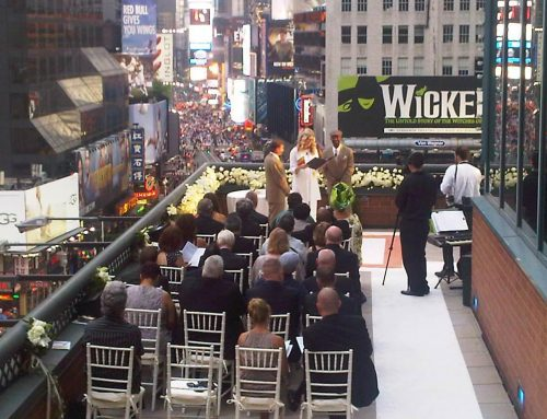 Rooftop Wedding in Times Square