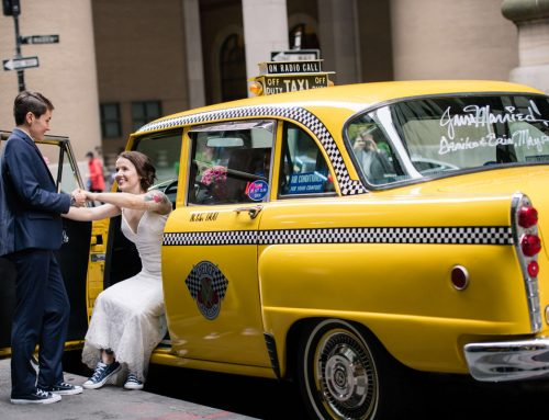 Vintage Checker Cab Wedding