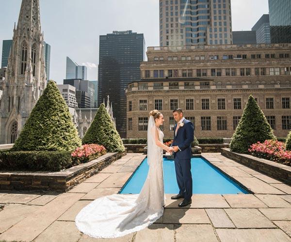 Garden Wedding Ceremony: Rooftop Wedding Ceremony At 620 Loft And Garden