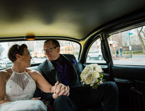 Checker Cab wedding in New York City